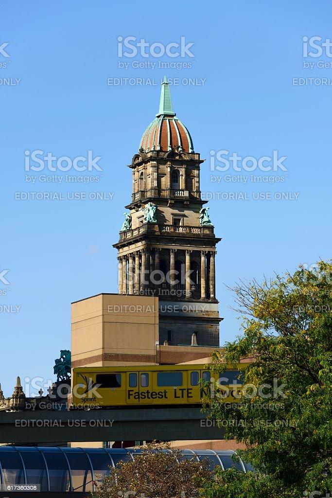 Wayne County Building, Detroit stock photo
