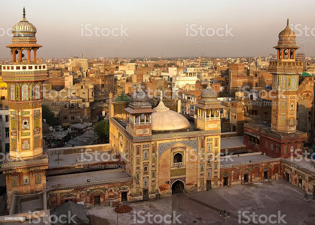 Wazir Khan mosque, Lahore, Pakistan stock photo