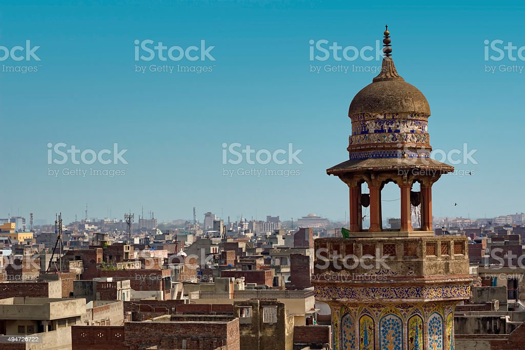 Wazir Khan Mosque stock photo