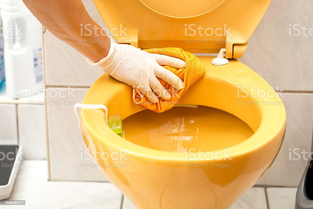 Wc cleaning stock photo