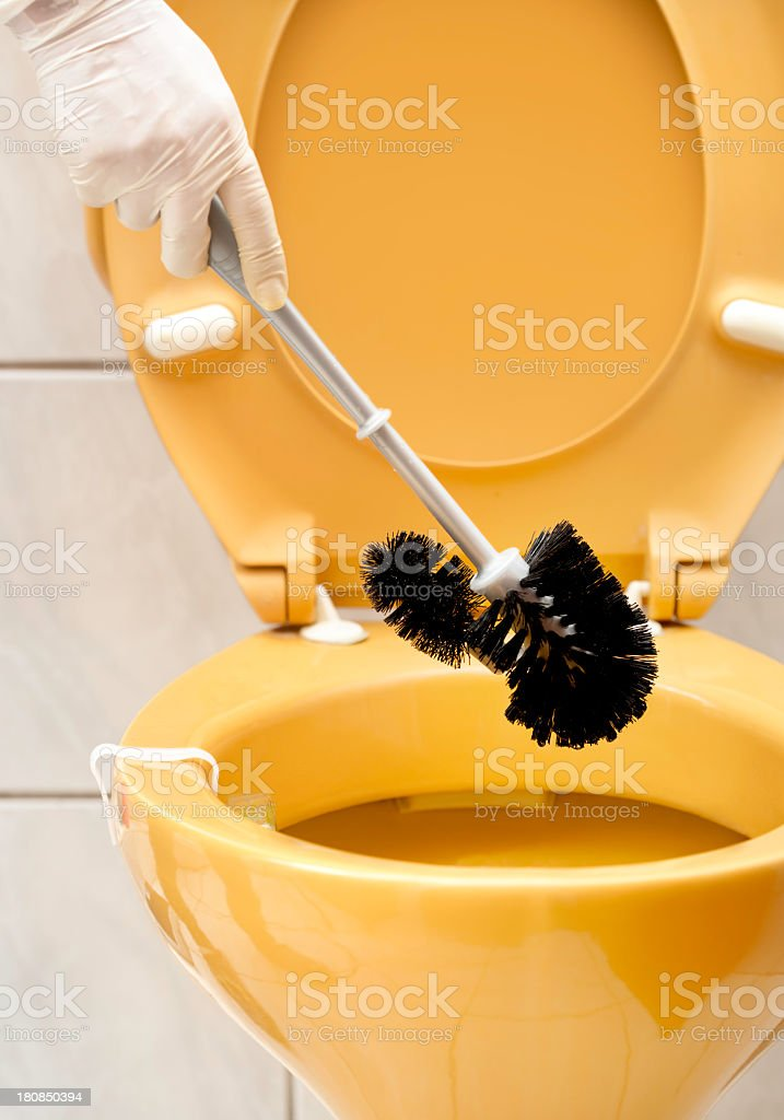 Wc cleaning royalty-free stock photo