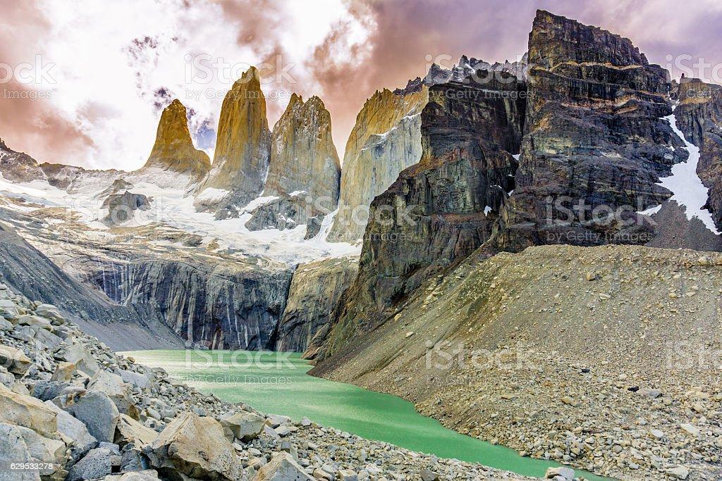W-Circuit Torres Del Paine, Chile stock photo