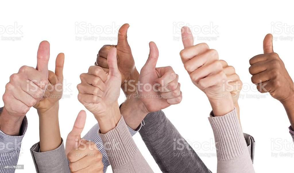 We all agree! stock photo