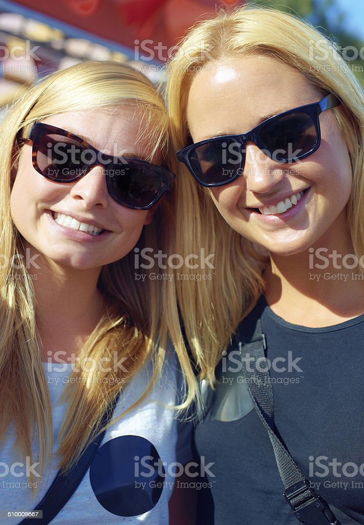 We always have a good time together stock photo