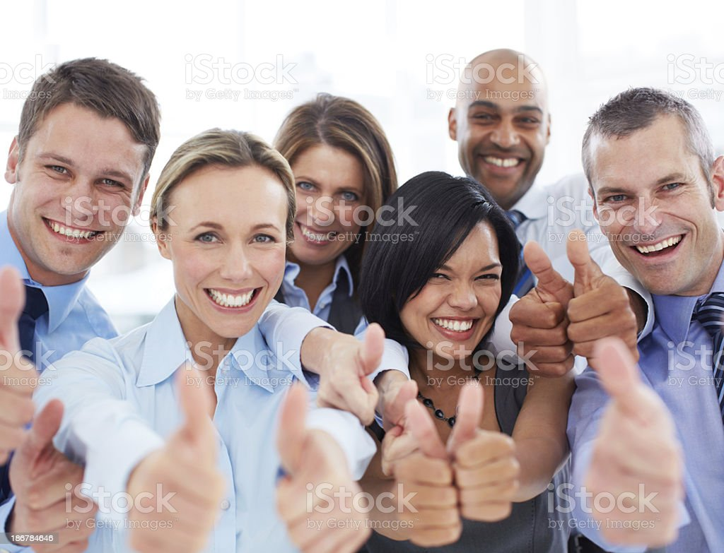 We approve! stock photo