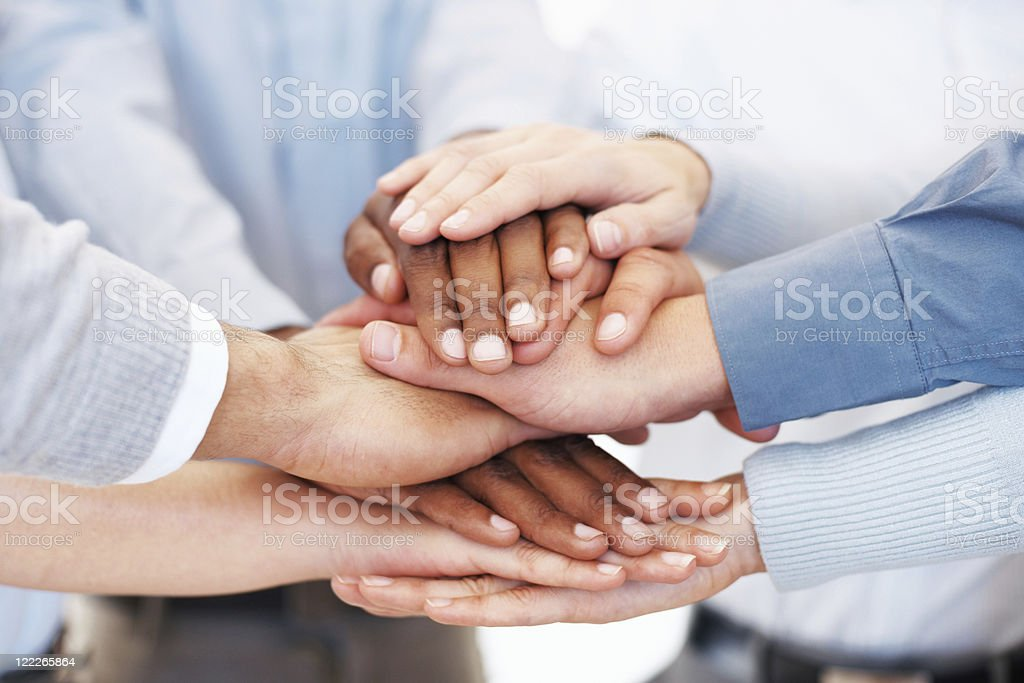 We are a team stock photo