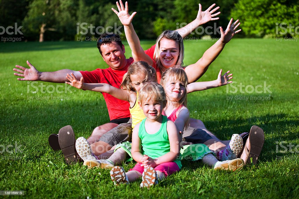 We are happy family royalty-free stock photo