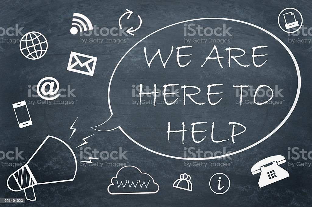 We are here to help stock photo
