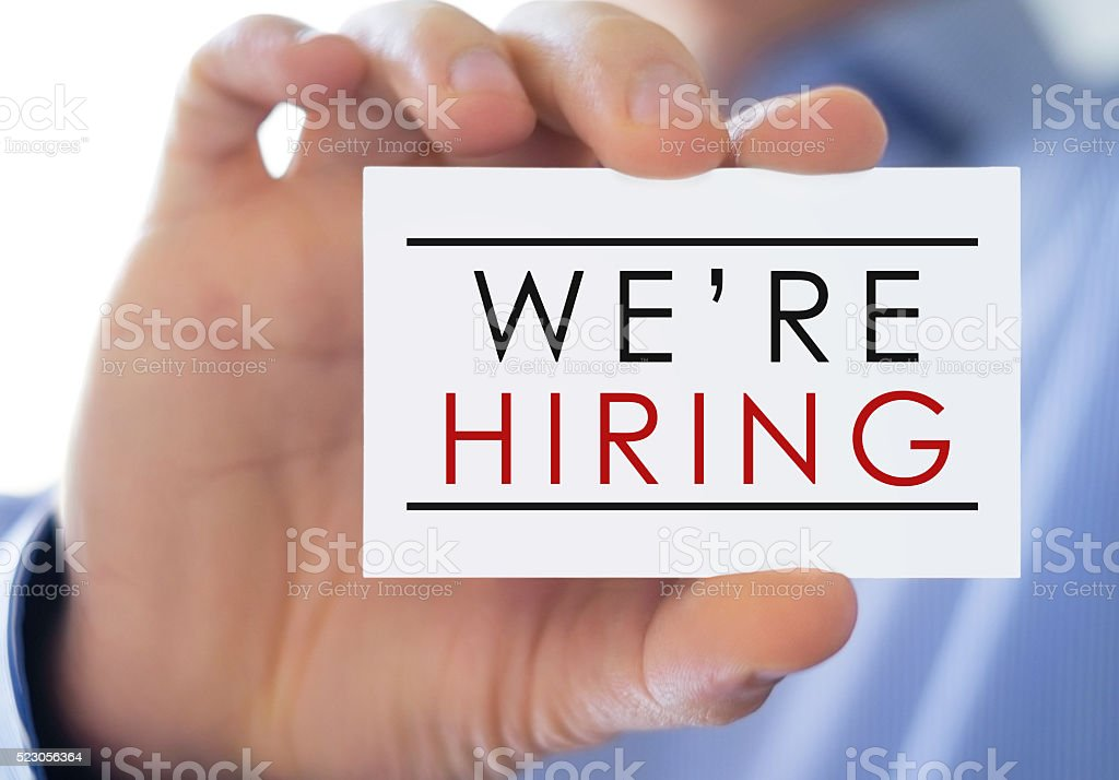 We are hiring - Business concept stock photo