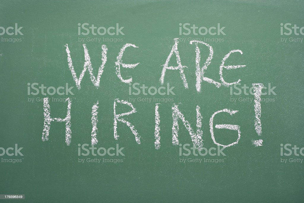 We are hiring! royalty-free stock photo