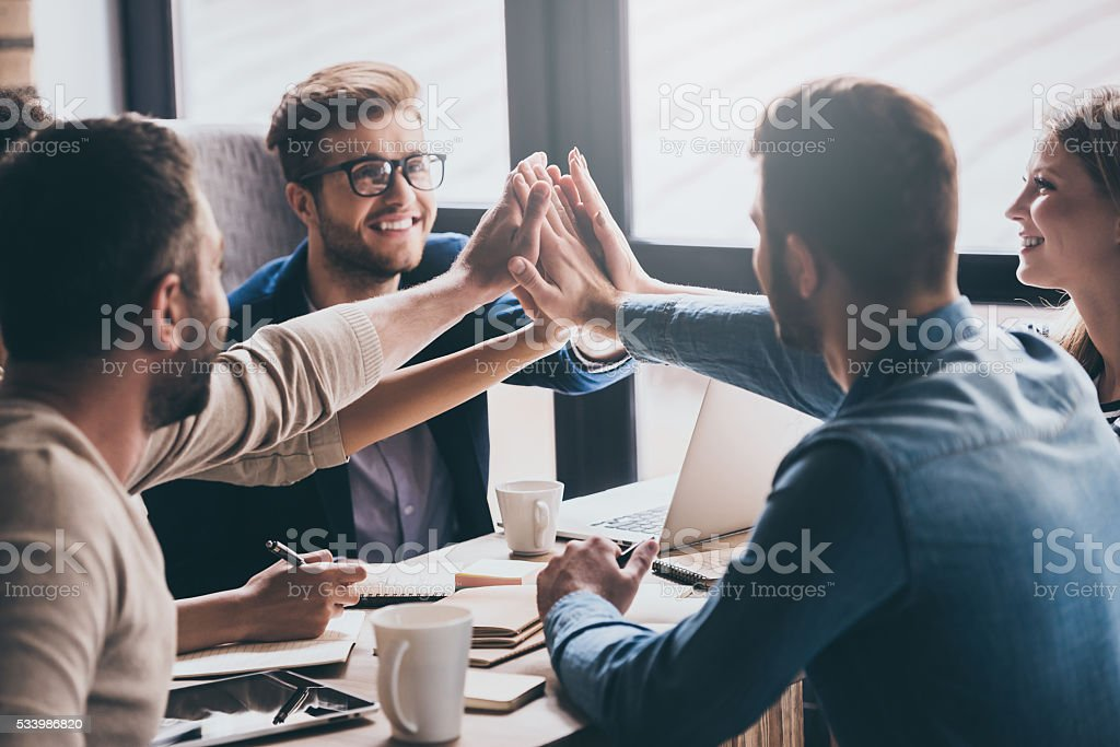 We are leaders on the market! stock photo