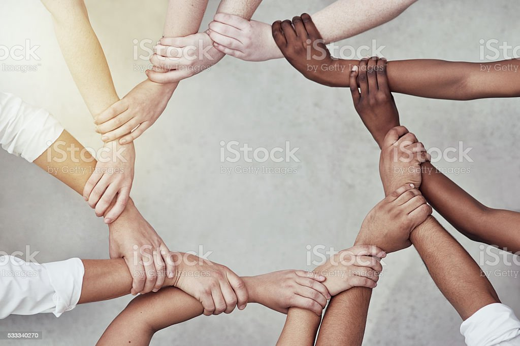We are more powerful together stock photo