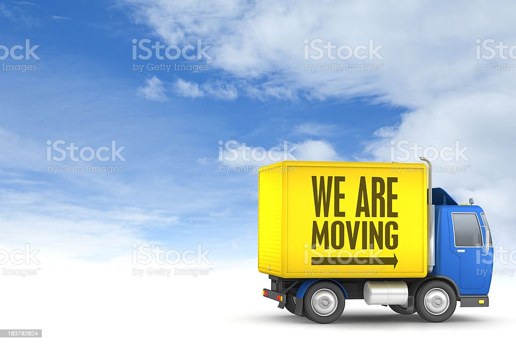 We are moving stock photo