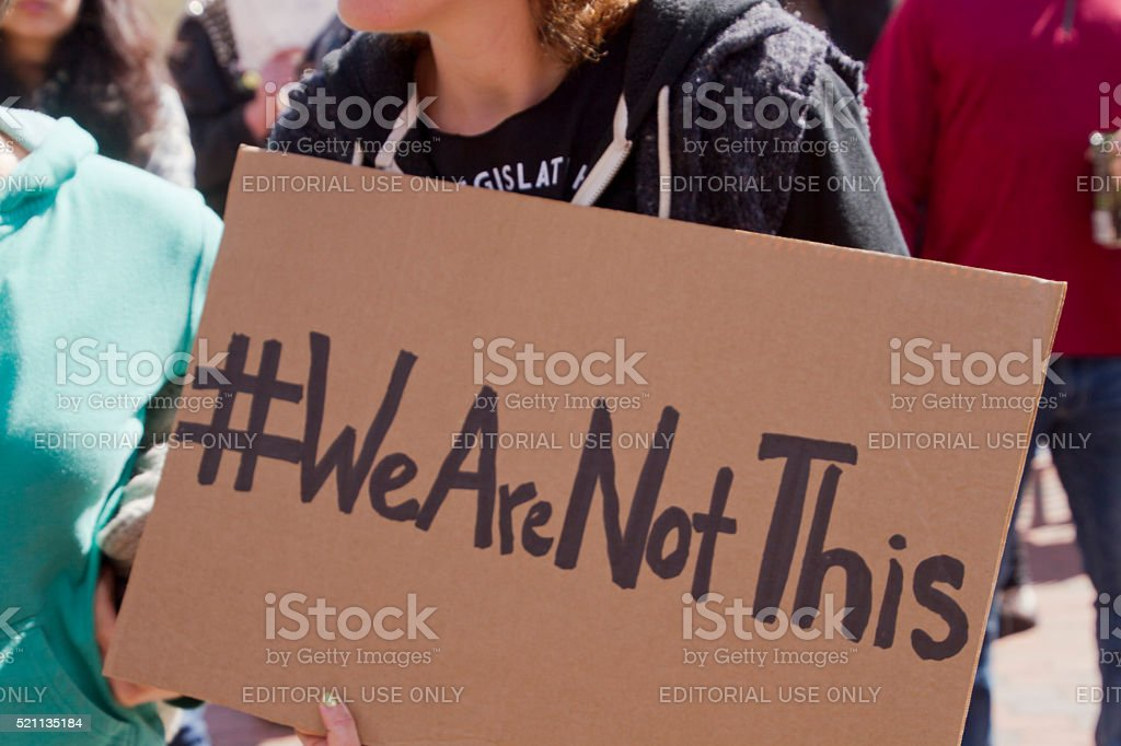 We Are Not Ths Sign stock photo
