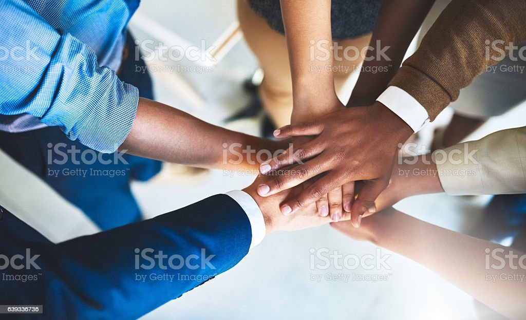 We are on a common mission stock photo
