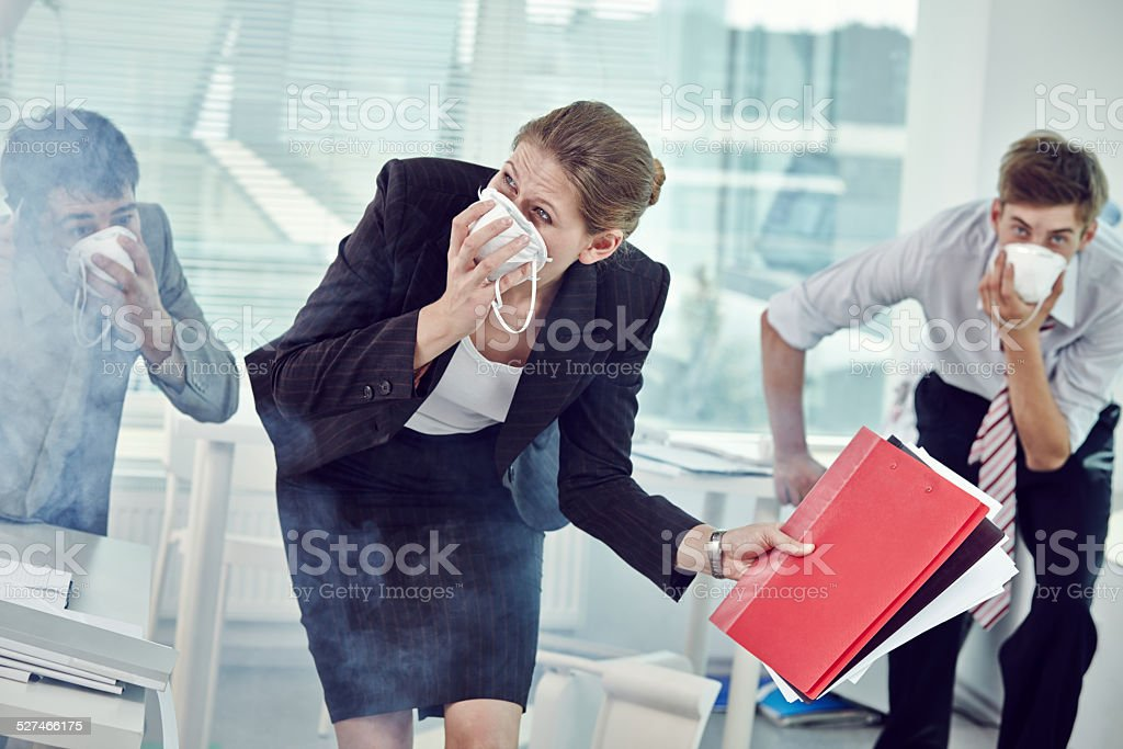 We are on fire! stock photo