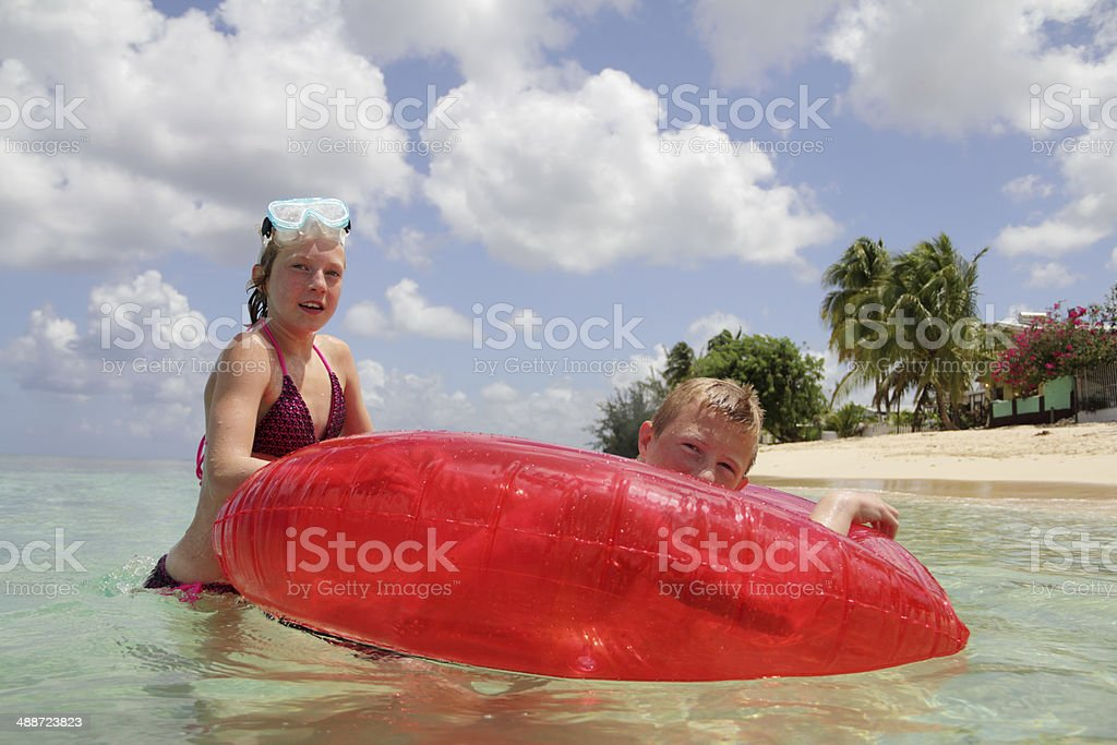 we are on holidays stock photo