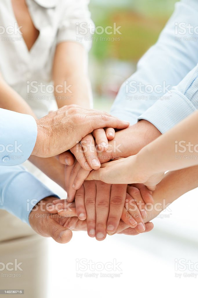 We are on the right track - Working together works stock photo