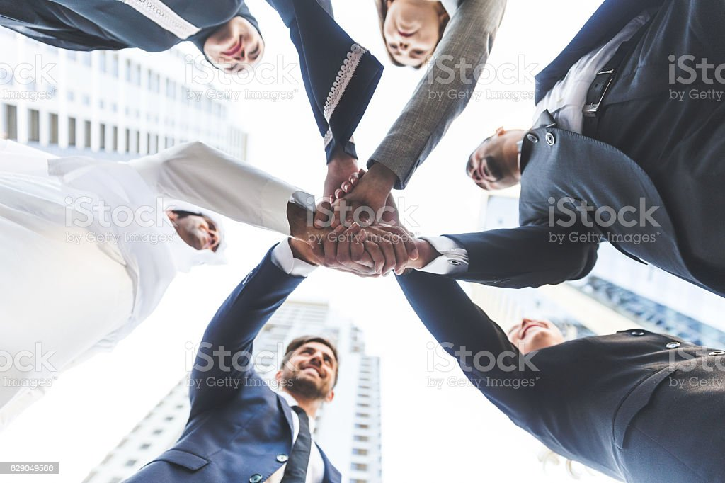We are one great team stock photo