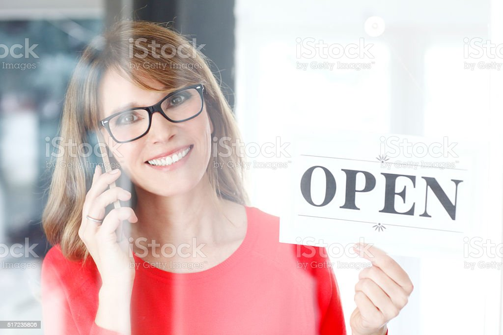 We are open stock photo