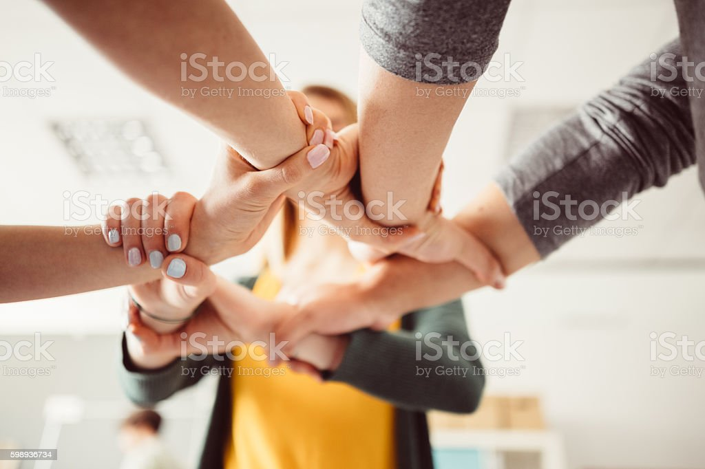 We are power together stock photo