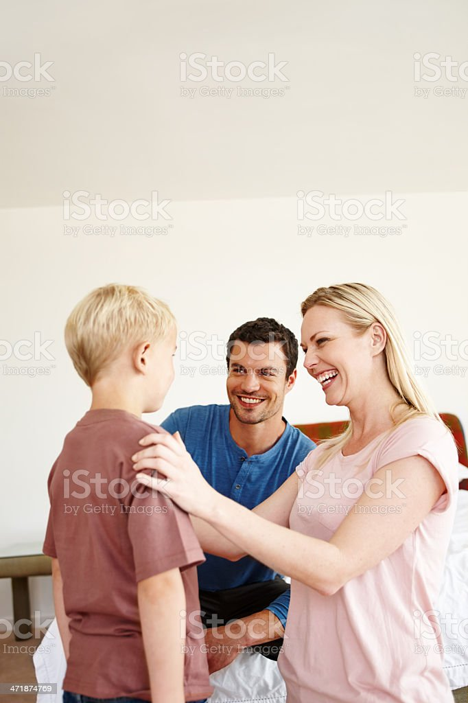 We are so proud of you son! royalty-free stock photo