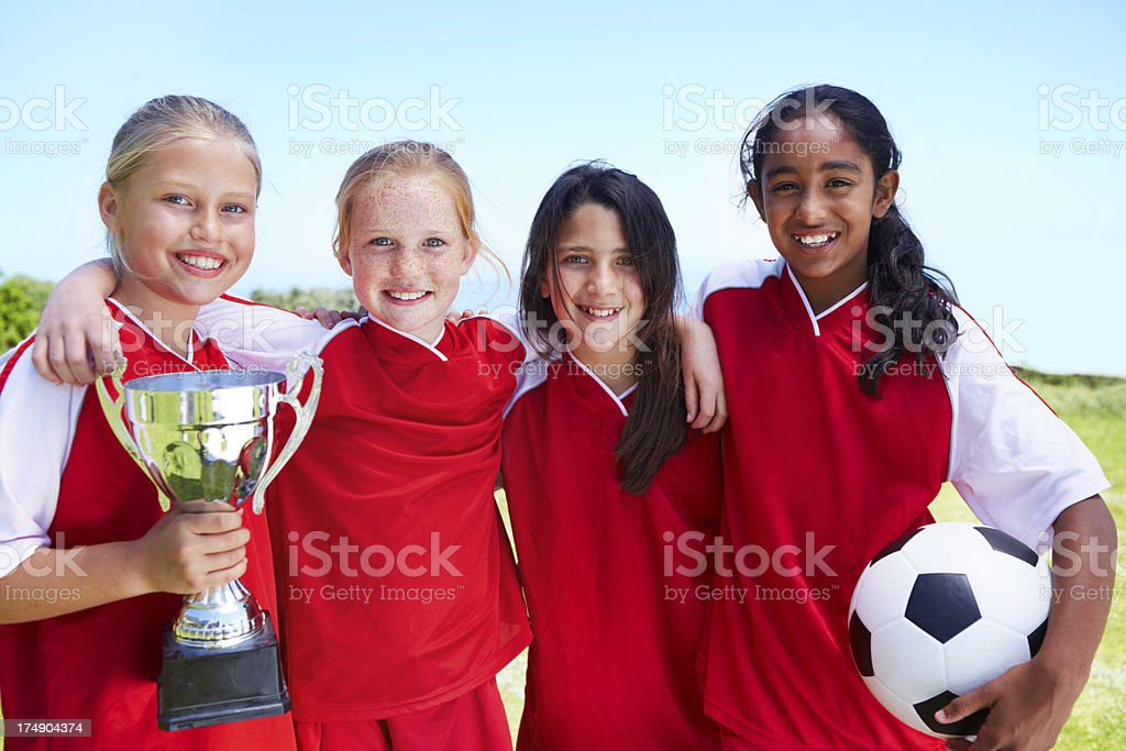 We are the champions! royalty-free stock photo