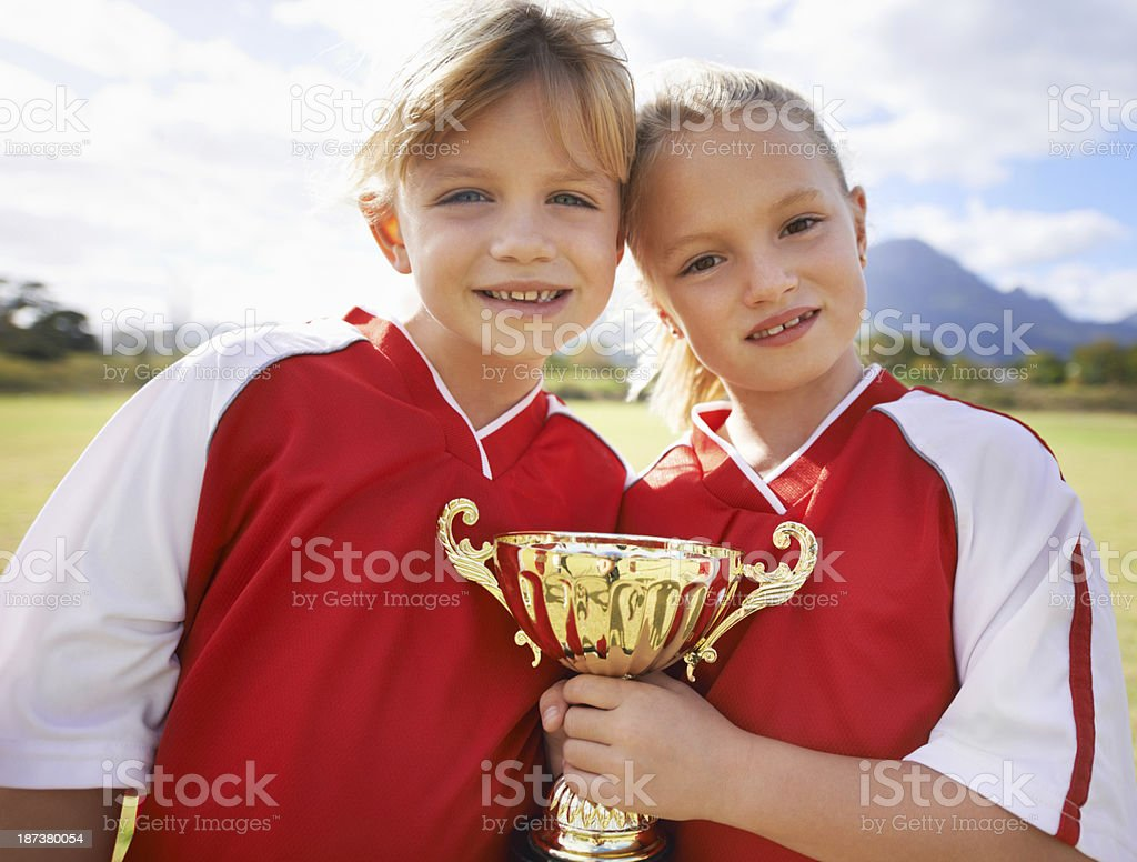 We are the champs! royalty-free stock photo