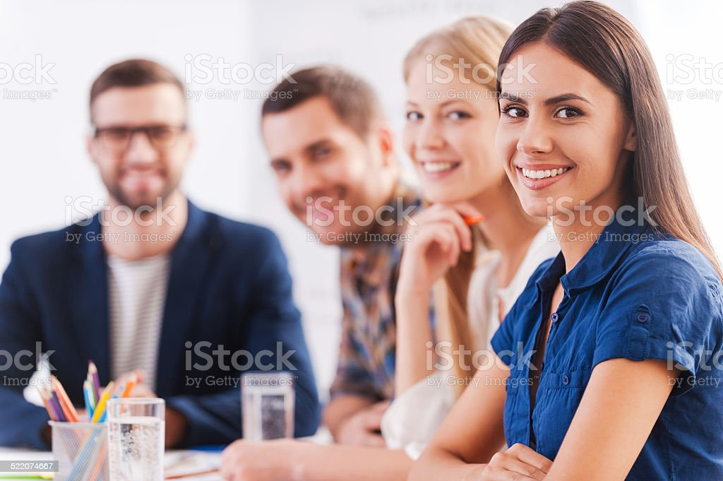 We are the team you can trust. stock photo