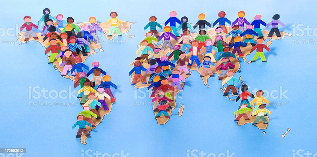 We are the world stock photo