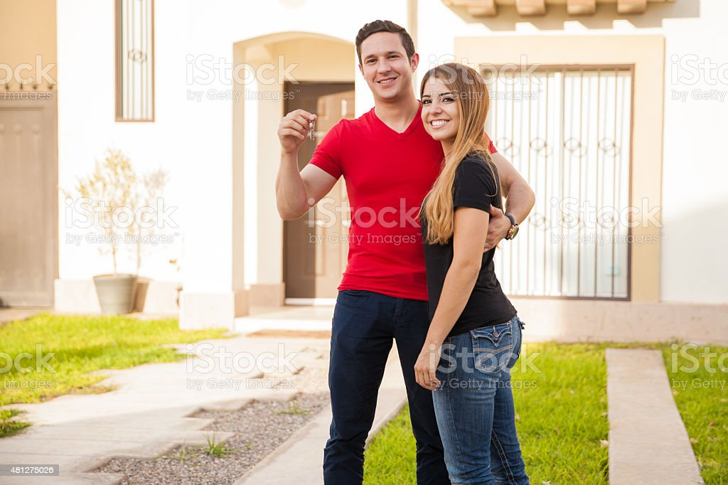 We bought a new house! stock photo