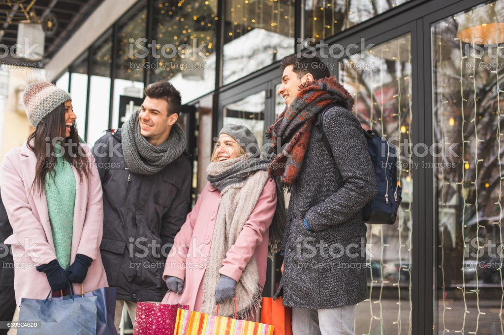 We bought Christmas gifts for everybody stock photo