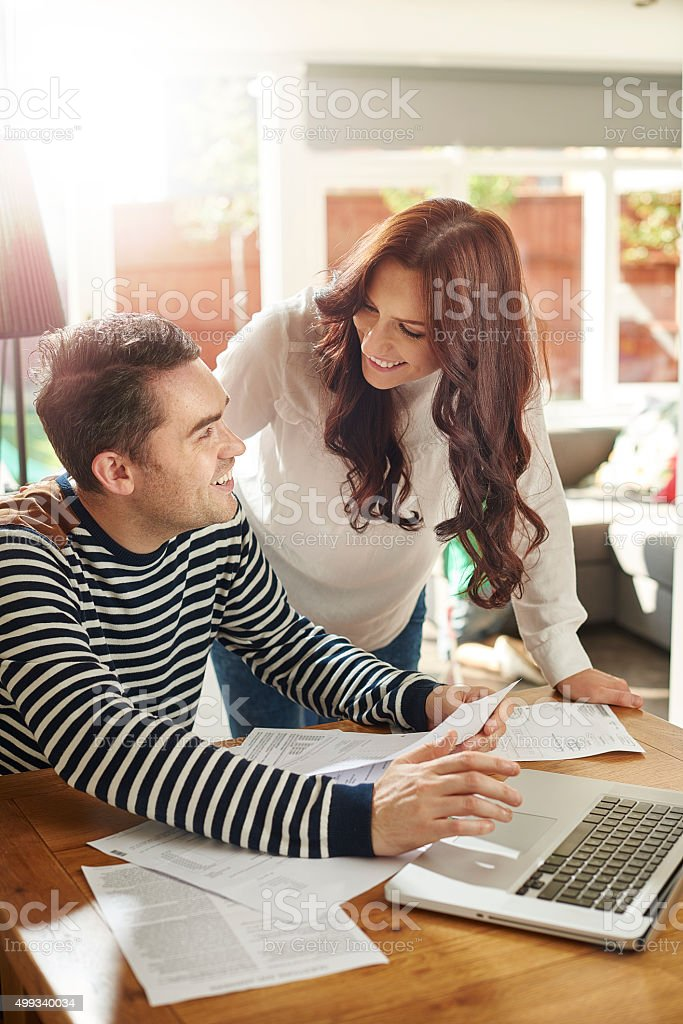 we can afford that holiday now stock photo