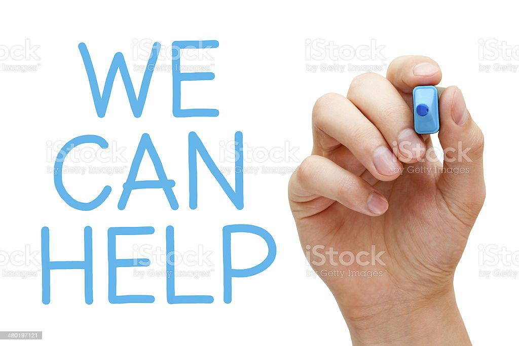 We Can Help stock photo