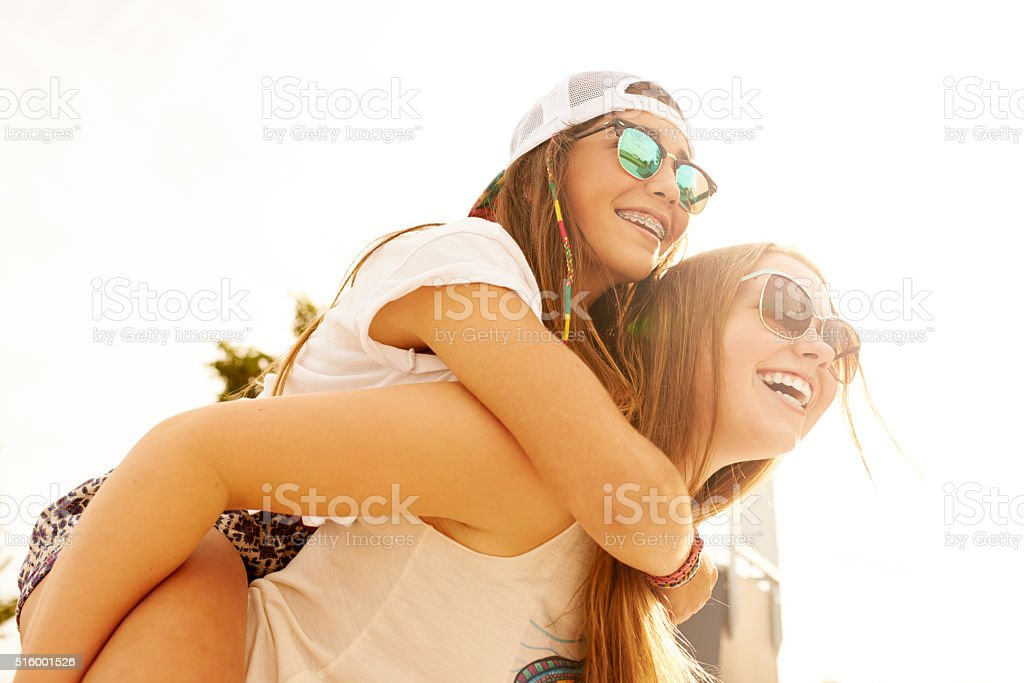 We can never control our laughter stock photo