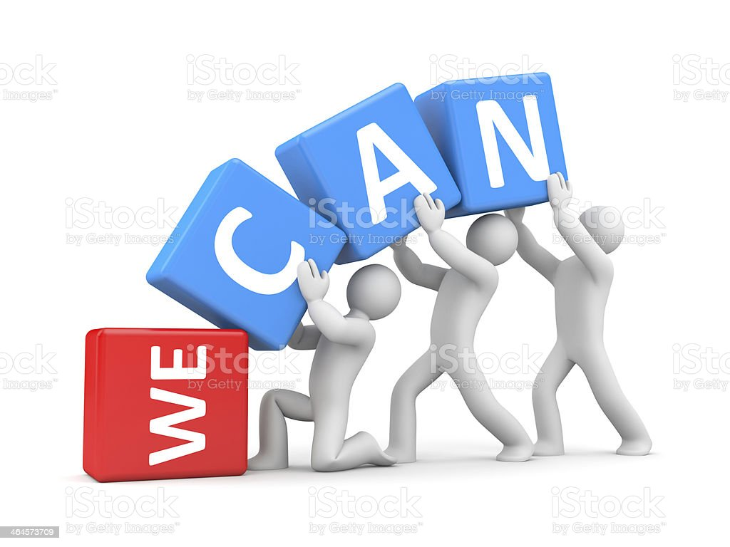 We can! stock photo