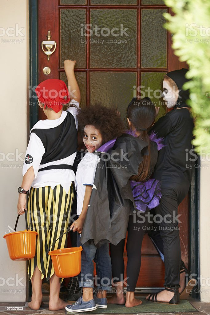 We can't wait for candy! stock photo