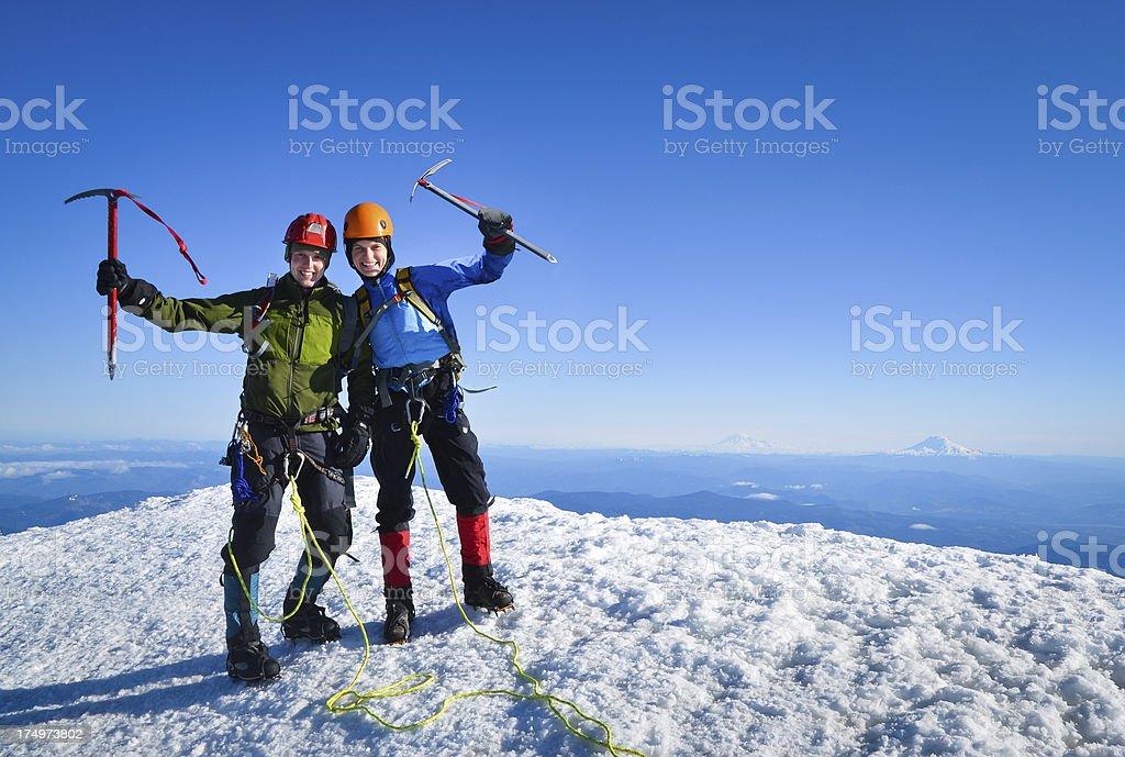 We climbed it! royalty-free stock photo
