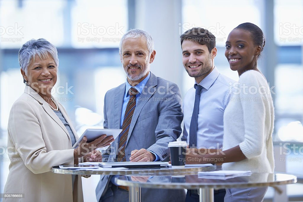We closed the deal! stock photo