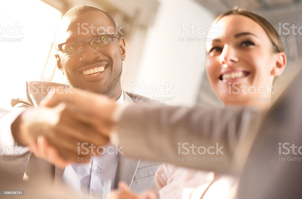 We come to an agreement! stock photo