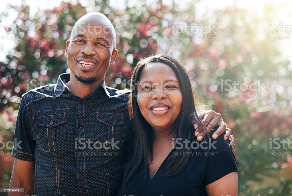 We could write the manual for a happy marriage stock photo