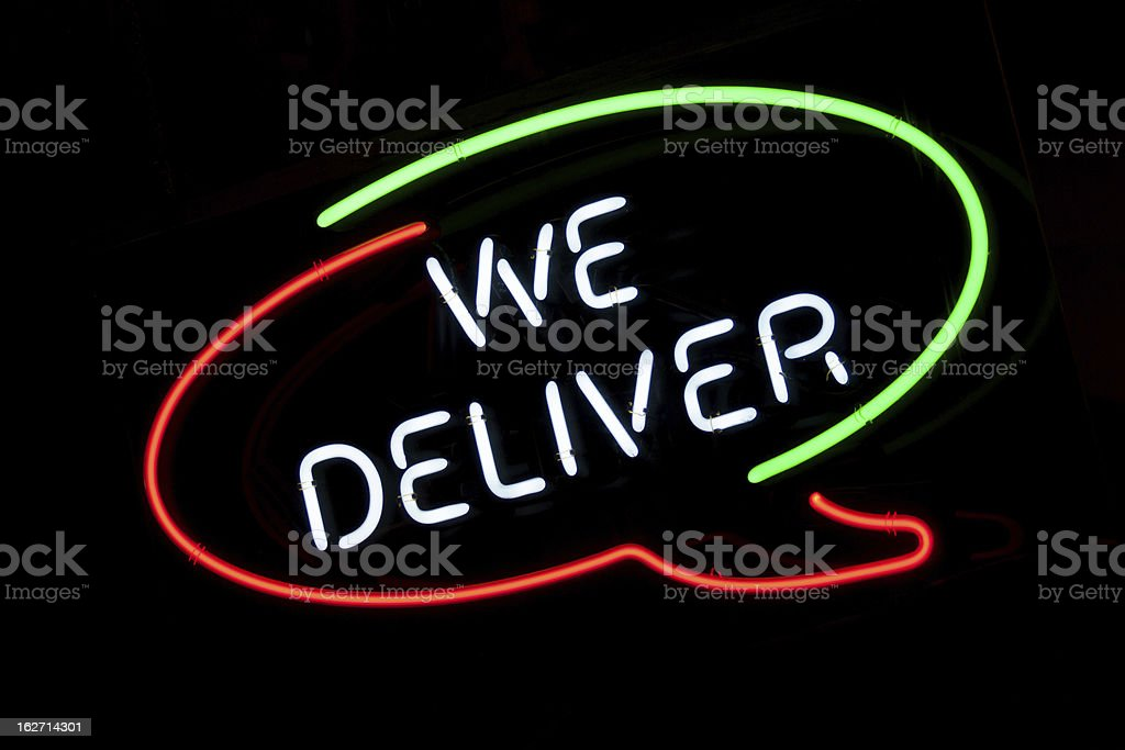 We Deliver stock photo