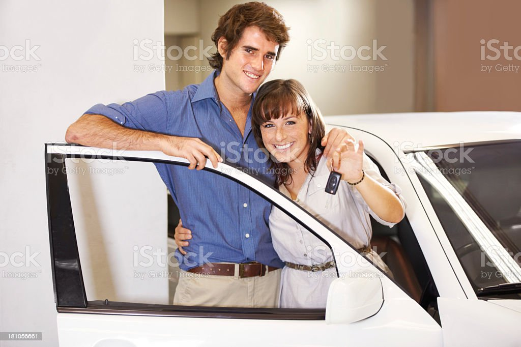We did it! - New car royalty-free stock photo