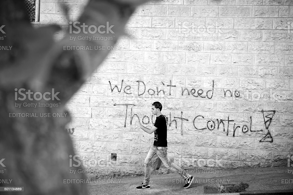 We Don't Need No Thought Control stock photo
