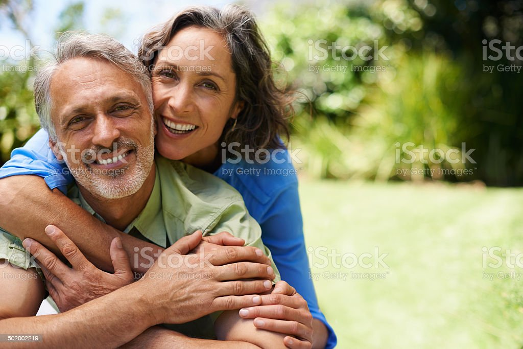 We fill each other's lives with joy stock photo