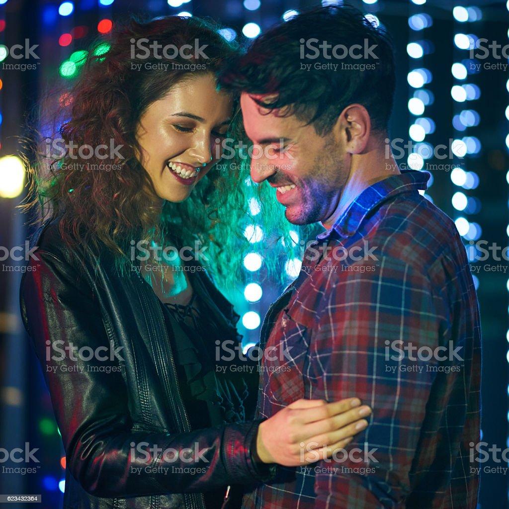 We found love on the dancefloor stock photo