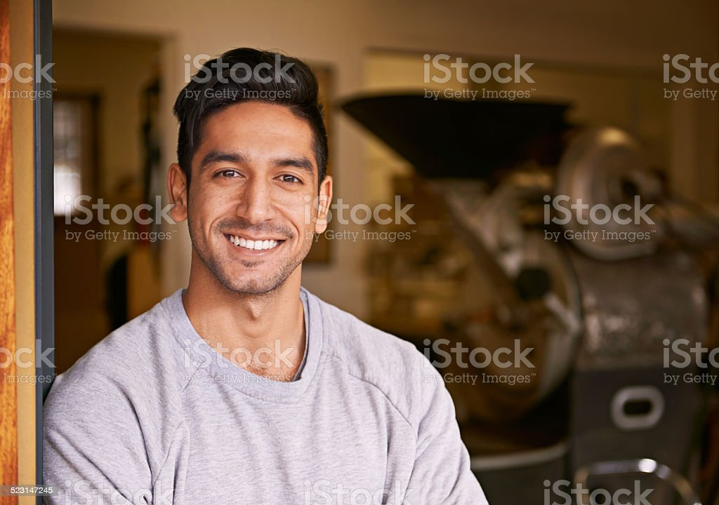We grind the best coffee stock photo