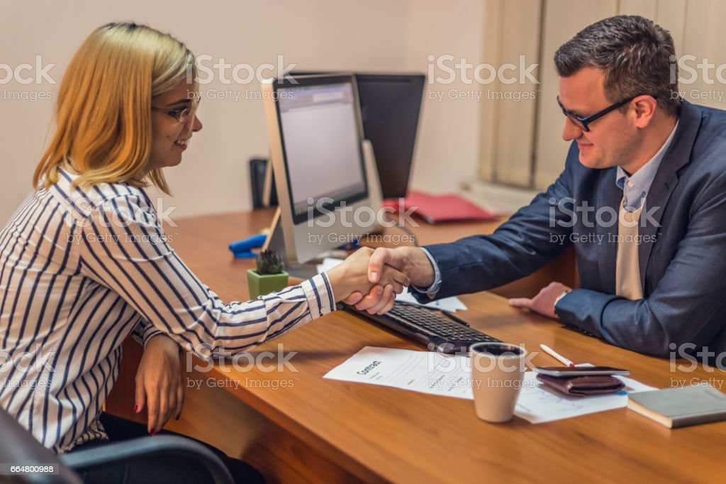 We have a deal stock photo