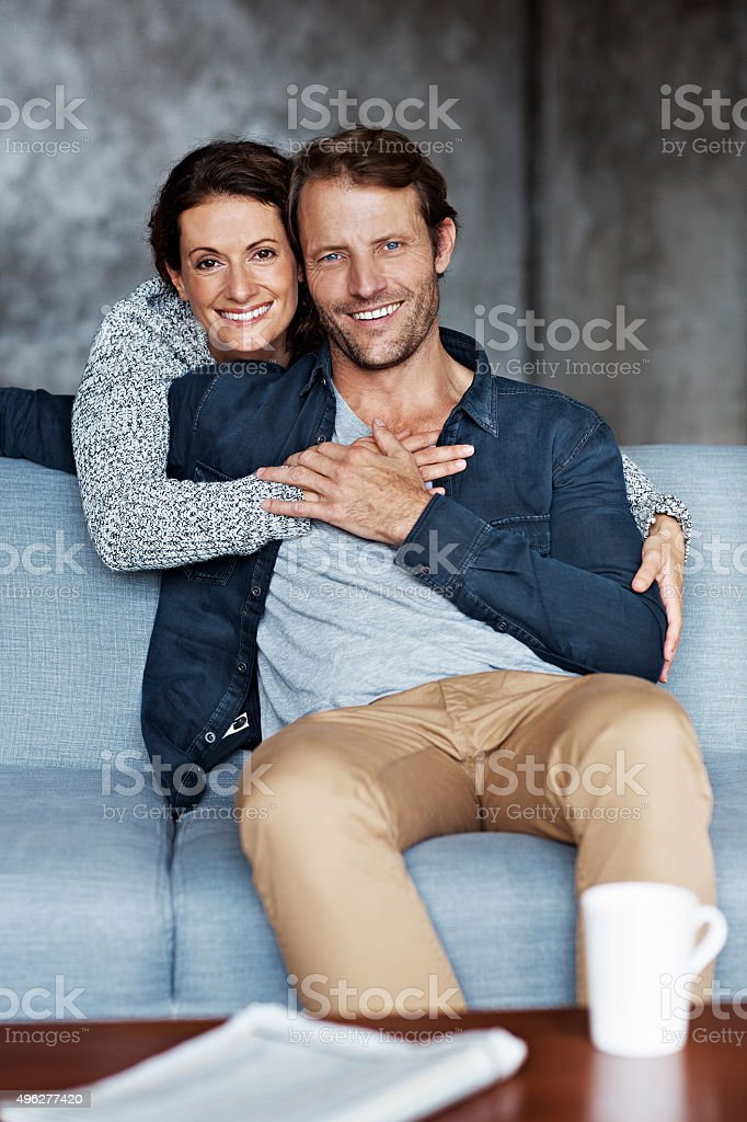 We have everything we could ever want stock photo