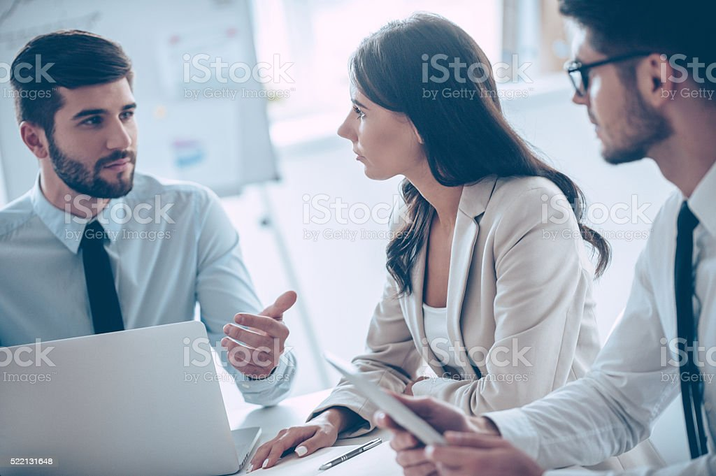 We have new plans! stock photo